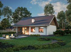 Zdjęcie projektu Murator C333j Miarodajny - wariant X WAJ3747 House Plans, Shed, Outdoor Structures, Cabin, House Design, Mansions, Architecture, House Styles, Outdoor Decor