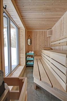 38 easy and cheap diy sauna design you can try at home by shannon w. Feist posted on july 20 2018 june 11 2019 he prospect of building a sauna in the home may initially sound daunting but in fact . Diy Sauna, Sauna Ideas, Home Spa Room, Spa Rooms, Sauna Steam Room, Sauna Room, Design Sauna, Sauna Wellness, Sauna Hammam