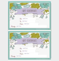 Flower Gift Certificate Template  #giftcertificate #freegiftcertificatetemplates #printablegiftcertificate #blankgiftcertificates #editablegiftcertificatetemplate