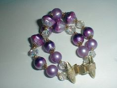 vendome bracelet vintage crystals beads by fadedglitter42263, $45.00