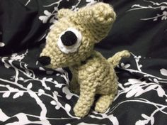 Chihuahua amigurumi crochet chihuahua little brown by SalemsShop