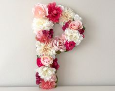 Wedding Letter 19 24 Large Floral Letter Silk by BegoniaRoseCo Large Flowers, Faux Flowers, Silk Flowers, Wedding Letters, Monogram Wedding, Flower Letters, Flower Wall, Mono Floral, Unicornios Wallpaper