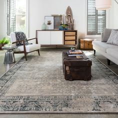 Francis Ivory/ Charcoal Rug (3'3 x 5'3) - Overstock™ Shopping - Great Deals on Alexander Home 3x5 - 4x6 Rugs