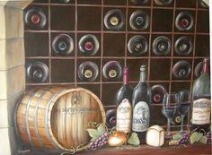 Personalized Wine Cellar Mural