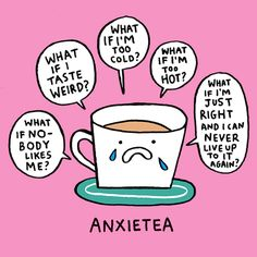 Illustrator Gemma Correll suffers from anxiety and depression, and she uses humor to cope. Her charming mental health comics offer support to others. Depression Memes, Depression Help, Depression Symptoms, Cute Puns, Funny Puns, Hilarious, Tea Quotes Funny, Pun Quotes, Chemistry Jokes