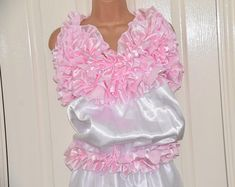 Jumpsuit / loungers in double satin, all-in-one silky soft lounging wear, Sissy Lingerie – Baby Girly, Plastic Pants, Baby Pants, How Big Is Baby, Pink Satin, Jumpsuit, Menswear, Feminine, Ruffle Blouse
