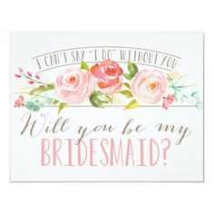 Watercolor Pale Peonies Will You Be My Bridesmaid Invitation Postcard Thank You For Being My Bridesmaid Wedding Card Floral Autumn Will. Bridesmaid Proposal Cards, Be My Bridesmaid Cards, Will You Be My Bridesmaid, Bridesmaid Gifts, Bridesmaid Boxes, Junior Bridesmaids, Wedding Bridesmaids, Bridesmaid Brunch, Bridesmaid Dresses