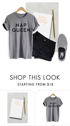 """Note It Up !"" by diana2631 ❤ liked on Polyvore featuring Moglea and Vans"