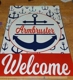 Another anchor flag - love these !
