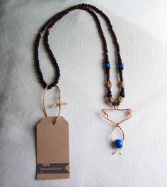 So chic, so boho-chic! Wire-wrapped bohemian necklace by Yaansoon   On Etsy