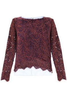 Carven Cornelis lace top on shopstyle.co.uk - Lace tops are a chic easy way to add a touch of sophistication to any outfit. Pair with heels for a classic look or Vans for a casual style.