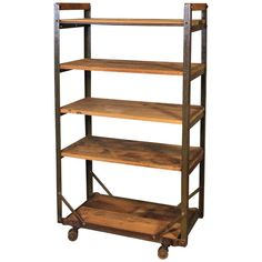 Booth Displays Vintage Industrial Rustic Wood Steel Storage Shoe Rolling Cart, Rack Shopping Tips Fo Colorful Furniture, Cheap Furniture, Unique Furniture, Furniture Projects, Furniture Design, Furniture Stores, Furniture Removal, Funky Furniture, Wood Projects
