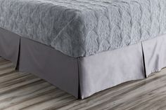 Griffin Pewter Cotton Twin Bed Skirt - 76