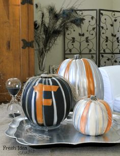 make your own marvelous metallic pumpkins, crafts, halloween decorations, seasonal holiday decor, See how this fun and easy DIY project can bump up your Halloween decor and Pumpkin Crafts, Fall Crafts, Holiday Crafts, Holiday Fun, Diy Pumpkin, Pumpkin Ideas, Holiday Ideas, Holiday Decor, Halloween Items