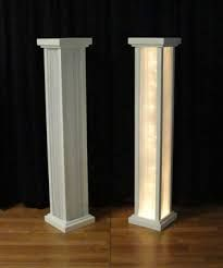 Diy aisle columns from concrete form wedding ceremony pinterest image result for lighted columns for weddings solutioingenieria Image collections