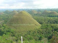 The world famous Chocolate Hills in Bohol Philippines #travel #landscape #view #tour   http://www.carmenbohol.com/t_carmen_photos.shtml