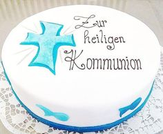Die 46 Besten Bilder Von Kommunionkuchen Baptism Cakes