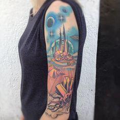 Fantasy planetscape arm