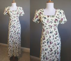 Floral Dress Maxi Boho Vintage Festival by InTheHammockVintage, $20.00