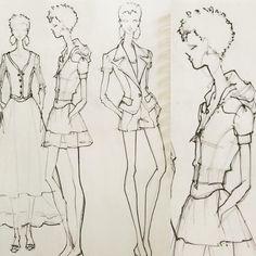 """#sketchbooksunday New Sketchbook. New Designs. New Beginnings. #renaldobarnette #fashion #fashiondesign #fashiondesigner #fashionsketch…"""