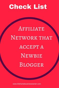 So you want to monetize your site but don't know which affiliate network will accept you as a new blogger. Are you frustrated with getting rejects upon rejects from affiliate network? You don't have to worry anymore, click here to get a checklist of affil