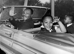 Martin Luther King, Jr. with his children.