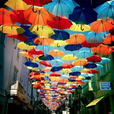 This is how they keep cool in the streets of Portugal ! I want to go and experience this so bad :) XO