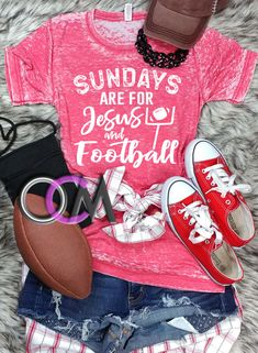 1768cfc4 Sundays are For Jesus and Football t-shirt, Football Mom shirt, Jesus and