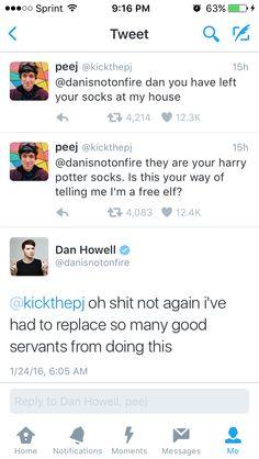Danisnotonfire Kick the pj tweet socks