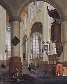 Cornelis de Man - Interior of the Oude Kerk in Delft