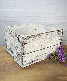 Look what I found on #zulily! Distressed Wood Crate #zulilyfinds