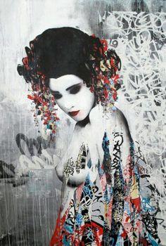 HUSH http://www.widewalls.ch/artist/hush/ #graffiti #streetart #urbanart #stencil