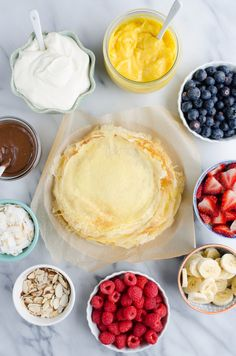 Learn how to build an epic Crepe Bar at home and be a brunch hero! Providing options for both sweet and savory crepes will have your guests raving about this unique meal idea! The Pioneer Woman, Brunch Bar, Champagne Brunch, Brunch Buffet, Crepe Recipes, Brunch Recipes, Brunch Ideas, Pancake Recipes, Waffle Recipes