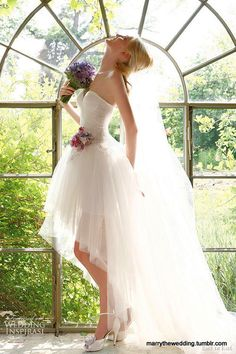 High low wedding dress! By far my favorite one!:)