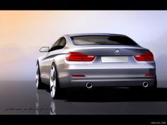 2014 BMW 4-Series Coupe Rear - Design Sketch