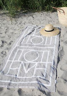 Beach towel from Elin Klings Totême