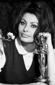 Sophia Loren and her Oscar