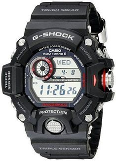 """For 25 years G-Shock G-Shock digital watches are the ultimate tough watch. Providing durable, waterproof mens digital watches for every activity. G-Shock is the ultimate tough watch. It was born from a developer's dream of """"creating a watch that never breaks."""" Guided by a... more details available at https://perfect-gifts.bestselleroutlets.com/gifts-for-men/product-review-for-casio-mens-gw-9400-1cr-master-of-g-stainless-steel-solar-watch/ #menswatches"""