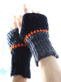 Fingerless gloves for men, winter fashion for him, Aeolus, by polixeni19. #mensgloves #winterfashion #mensfingerless
