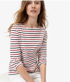 JOULES New Cute Casual Navy Red Striped Marine Harbour Sweatshirt Jersey Top S 2 #Joules #KnitTop #Casual