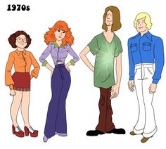 Illustration fashion design television digital art scooby-doo Buffy the vampire Slayer Shaggy Fred velma dinkley daphne blake julia wytrazek 1968 should have had their regular clothes