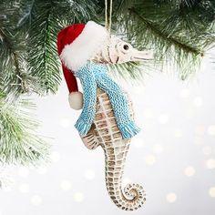 e9640388adb Seahorse Santa Hat Ornament. Tropical Christmas ...