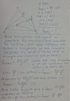 Aria triunghiului - clasa a VI-a Personalized Items, Math, Color, Math Resources, Mathematics