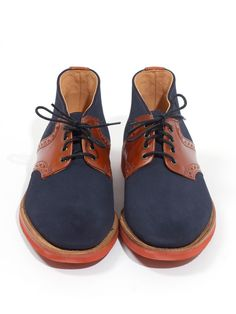 A Continuous Lean  Mark McNairy New Amsterdam for ACL & Co. Suede Country Brogue Boot