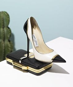 Jimmy Choo pumps, Emilio Pucci clutch