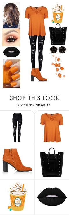 """Fall Fashion #1"" by dreamerz-dream-on ❤ liked on Polyvore featuring Topshop, Chloé, Mulberry, Lime Crime, Essie and Erica Lyons"