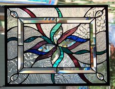 Abstract Stained Glass Window Hanging 14 1/2 X 18 1/2 by StevesArtGlass on Etsy https://www.etsy.com/listing/201931114/abstract-stained-glass-window-hanging-14