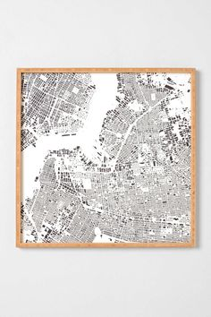 CityFabric Inc For DENY Brooklyn White Framed Wall Art