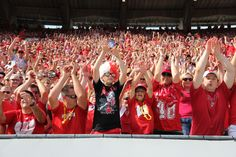 Start the wave at a Badger football game