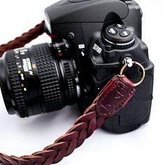 b.still Braided Leather Camera Neck Shoulder Strap for Leica Canon Nikon Fuji Olympus Lumix Sony + FREE Lens Bag